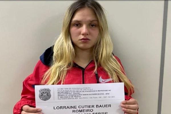 """Lorraine Bauer Romeiro, a """"gatinha da cracolândia"""", foi detida com drogas na calcinha e no sutiã"""