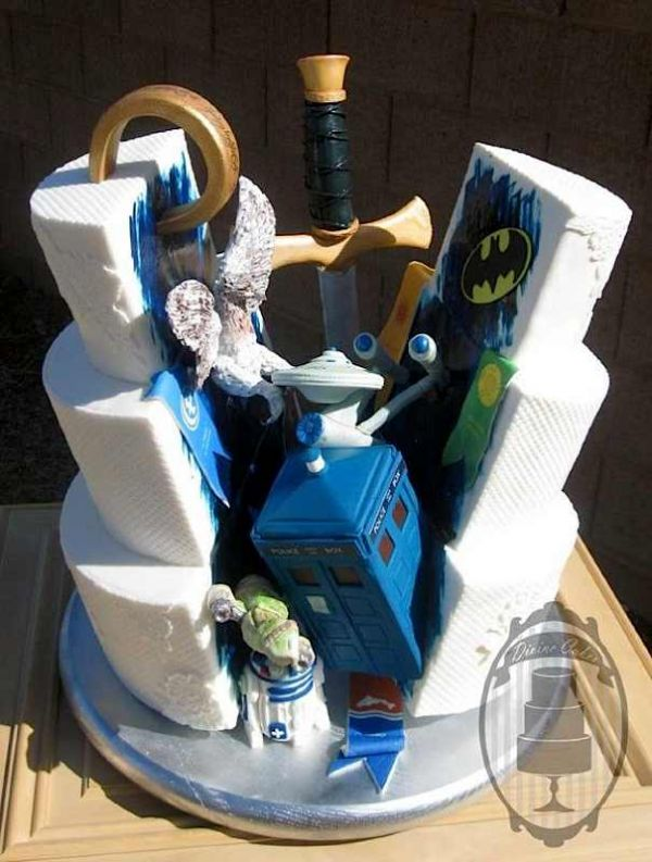 Multi Fandom Geek Wedding Cake   Neatorama