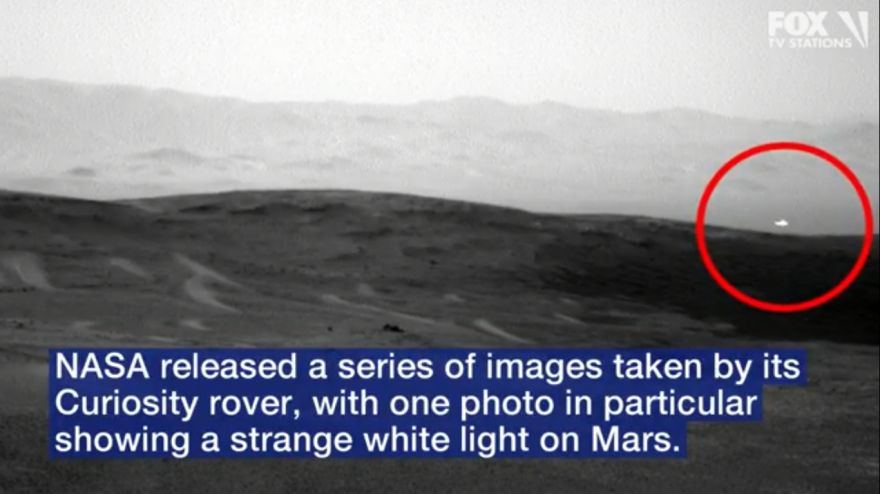 Image Of Mysterious White Light On Mars Captured By Nasa