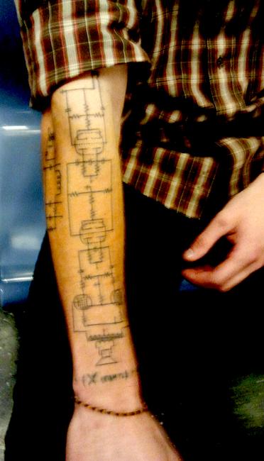 Guitar Amp Circuit Tattoo