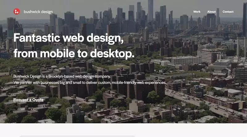 The Bushwick Design website