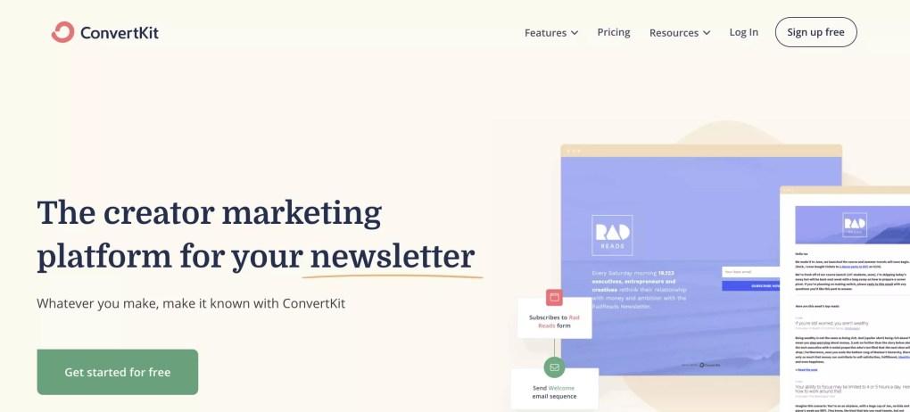 Email marketing automation tool ConvertKit