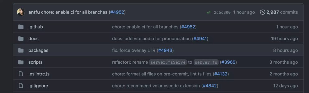 Vite's GitHub repo