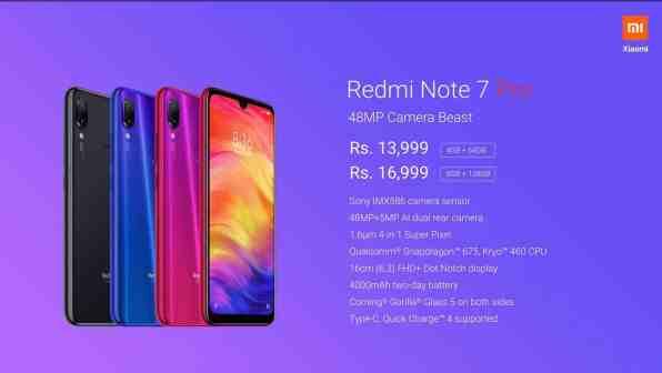 Redmi Note 7 Pro tekniset tiedot / Kuva: Xiaomi