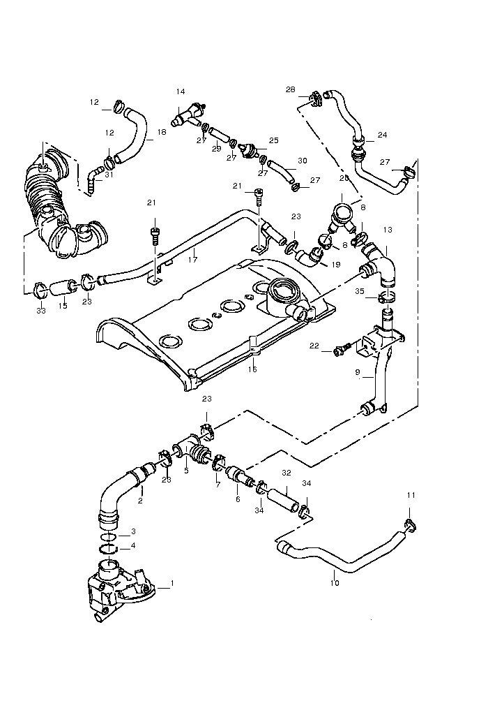 2004 ford f 150 pcv valve location