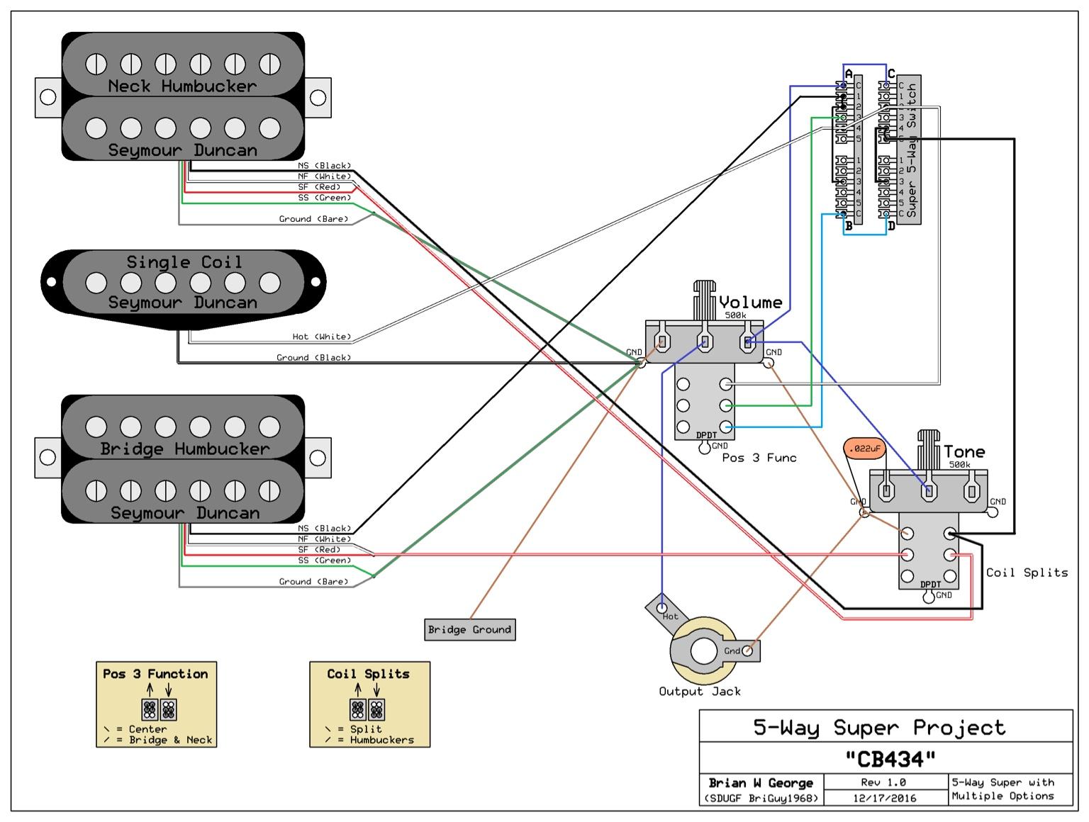 Dimarzio D Activator Wiring Diagram