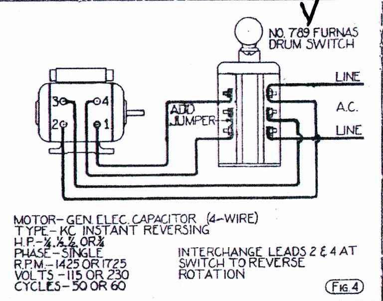 Help Wiring GE Motor To Furnas Forward/Reverse Switch