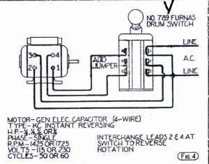 Help Wiring GE motor to Furnas ForwardReverse Switch