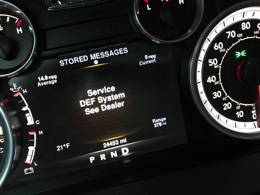 service def system see dealer message