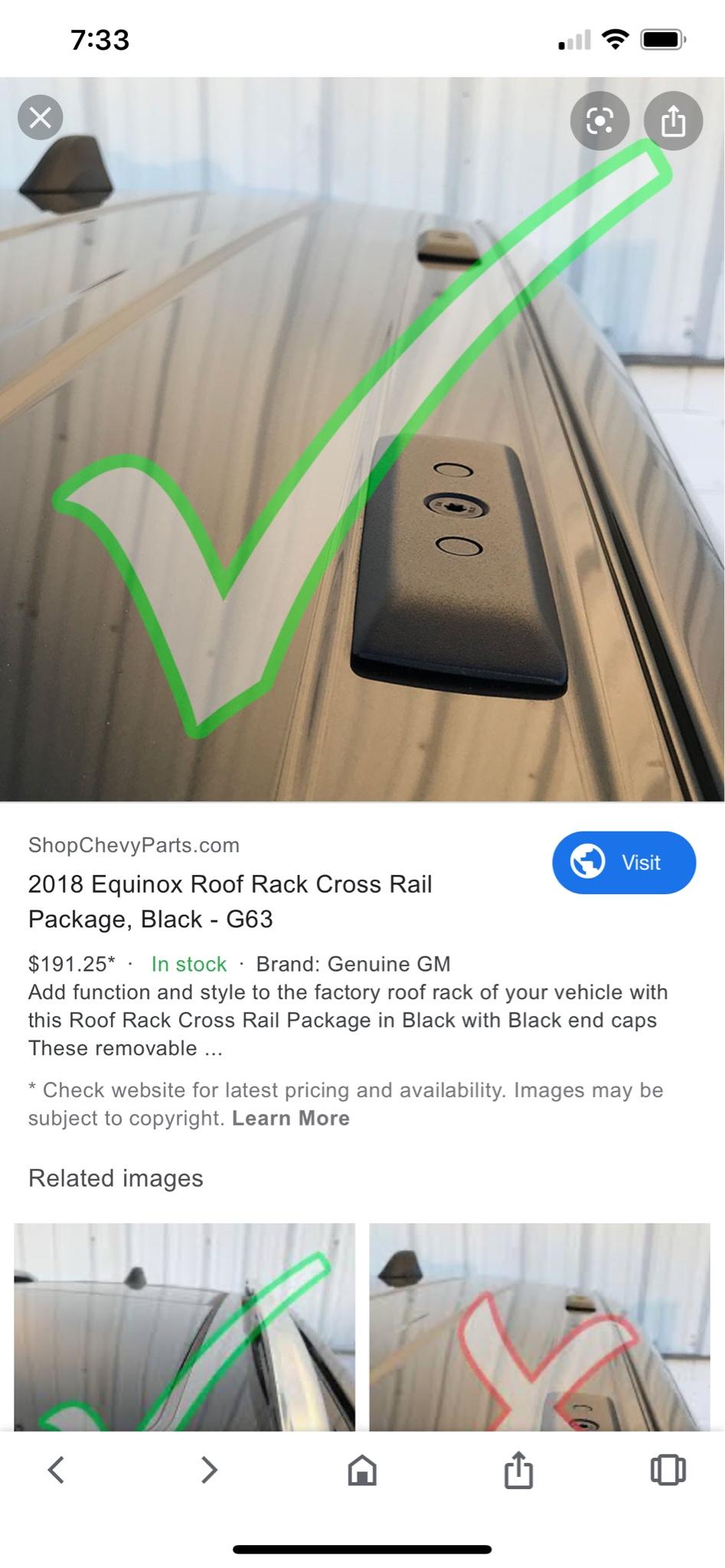 chrome roof side rails 2019 equinox