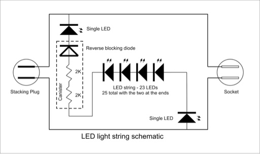 splice together a 3wire string of xmas lights  diy home
