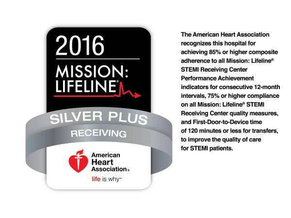 JFK Medical Center Honored with Mission Lifeline