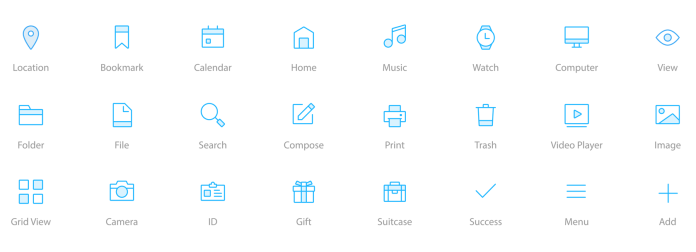 Icons in a user interface are instantly recognizable - great interaction design