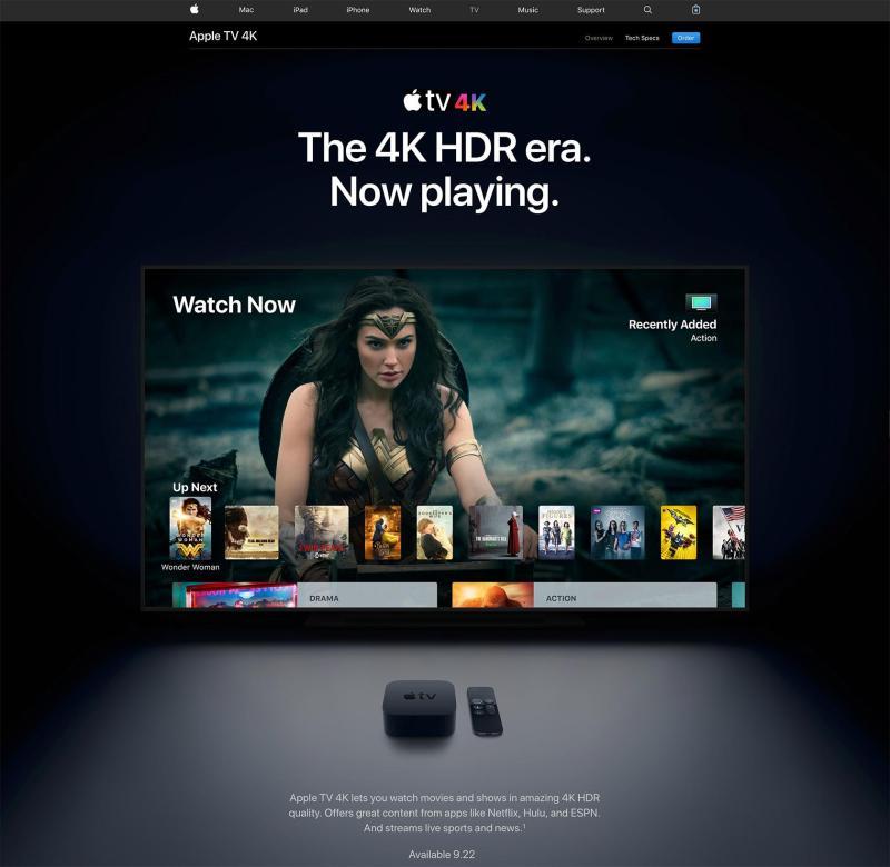 Opción de UI oscura de Apple para Apple TV