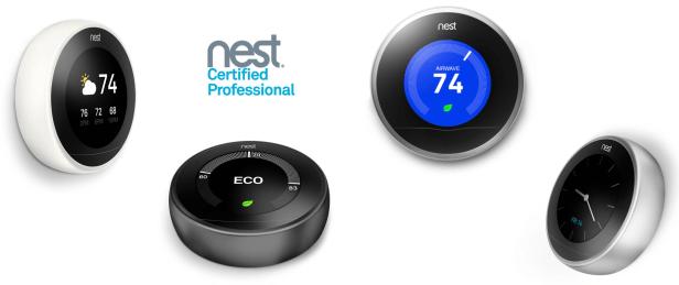 Diseño minimalista de dispositivos domésticos Nest