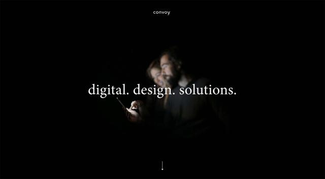 Minimalist web design home screen