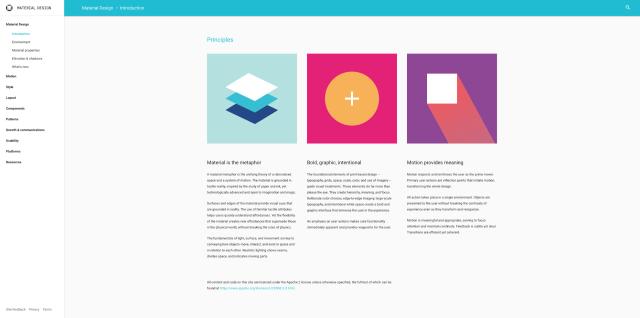 Google material design guidelines website