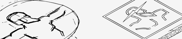 El desarrollo del logotipo comienza con bocetos en papel