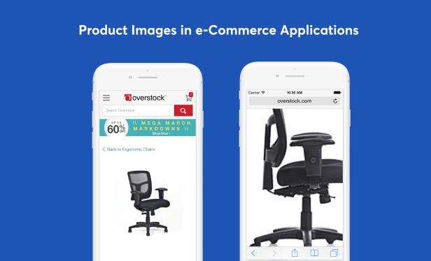 página móvil del producto comercio electrónico ux