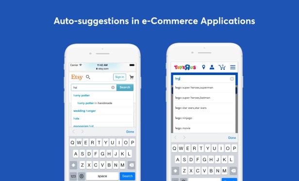 búsqueda sugestiva de comercio electrónico móvil ux