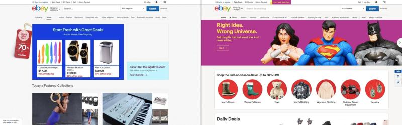 eBay, antes y después de su rediseño