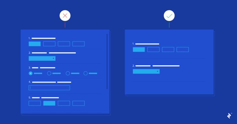 diseño de formulario ux, parte de la investigación de experiencia del usuario