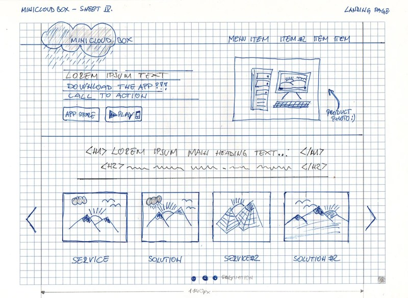 As a front-end engineer, you might prefer to use grid paper to put together your initial designs.