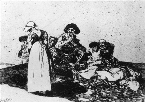The worst is to beg - Francisco Goya