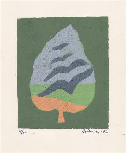 Abstract Expressionism,Vasile Dobrian, Tan Renga, dark night, hope, autumn, flocks