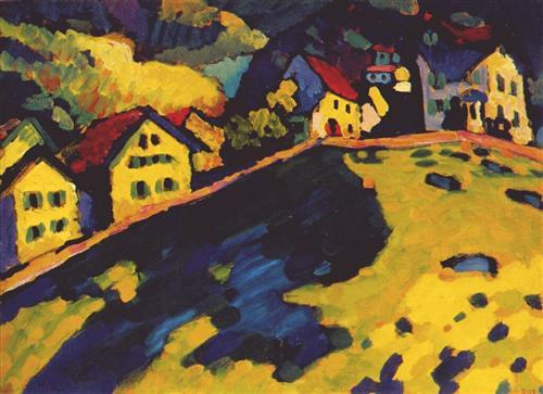 Houses at Murnau -  Wassily Kandinsky