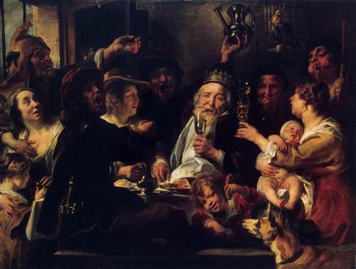 The Bean King (The King Drinks) - Jacob Jordaens
