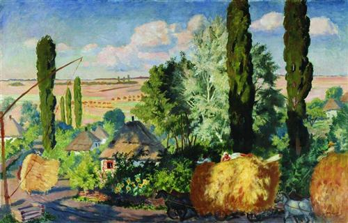 Ukrainian landscape - Boris Kustodiev