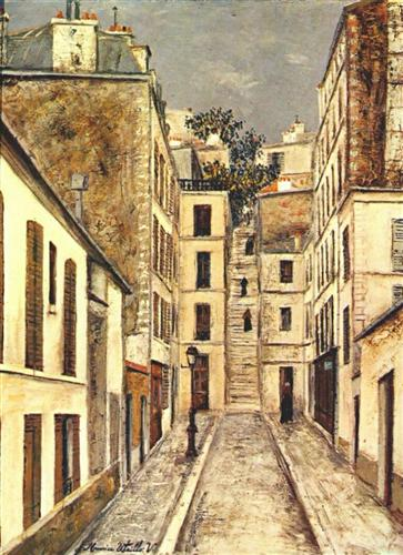 The Passage (The Dead End) - Maurice Utrillo
