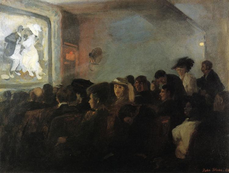 Movies Five Cents 1907 John French Sloan Wikiart Org