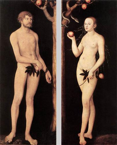 Adam and Eve - Lucas Cranach the Elder