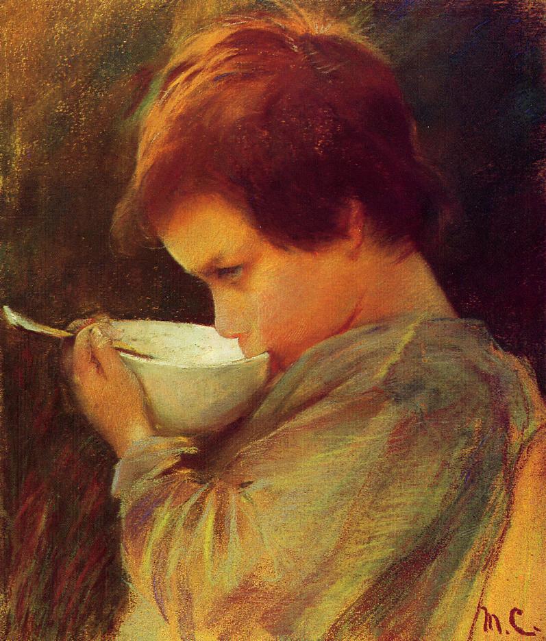 Child Drinking Milk C