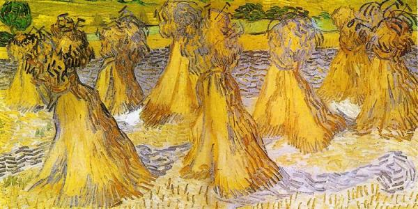 Sheaves of Wheat, 1890 - Vincent van Gogh - WikiArt.org