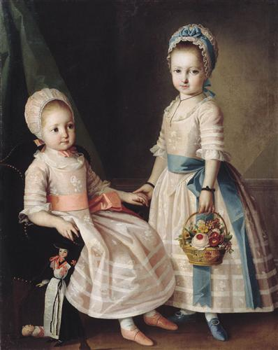 Portrait of Two Sisters - Carl-Ludwig Johann Christineck