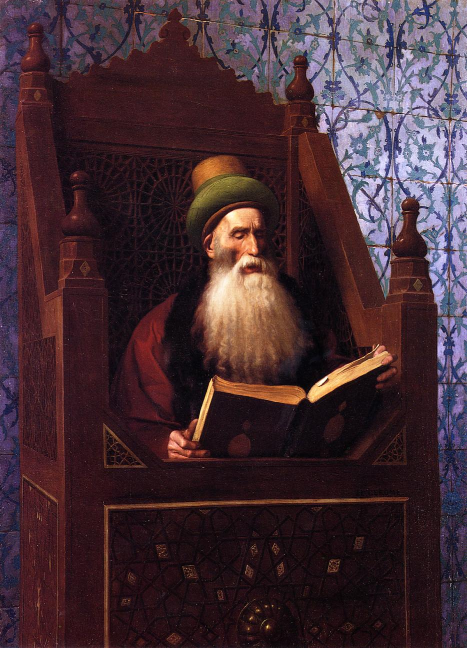 Dickensons color caste denomination - Mufti Reading In His Prayer Stool Jean Leon Gerome