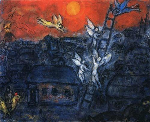 Jacob's Ladder - Marc Chagall