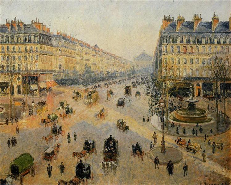 the avenue de l opera paris sunlight