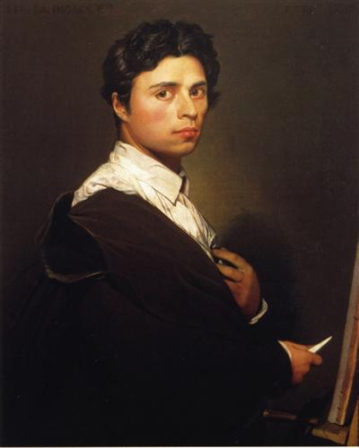 Self-Portrait at the Age of 24 - Jean Auguste Dominique Ingres
