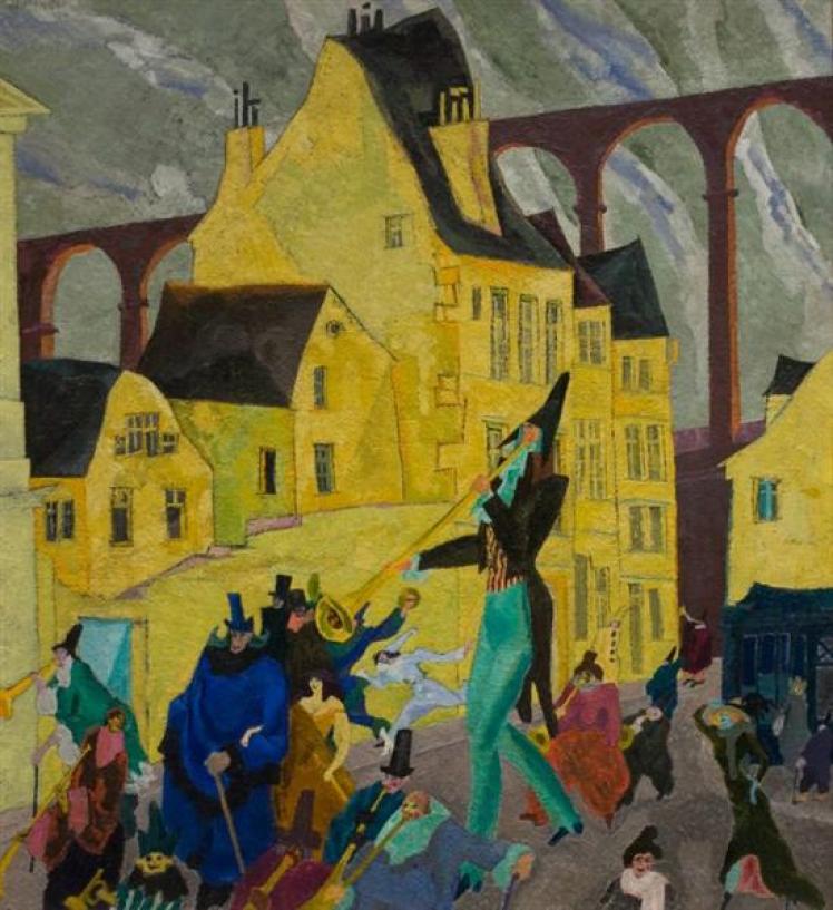 Carnival in Arcueil, 1911 - Lyonel Feininger