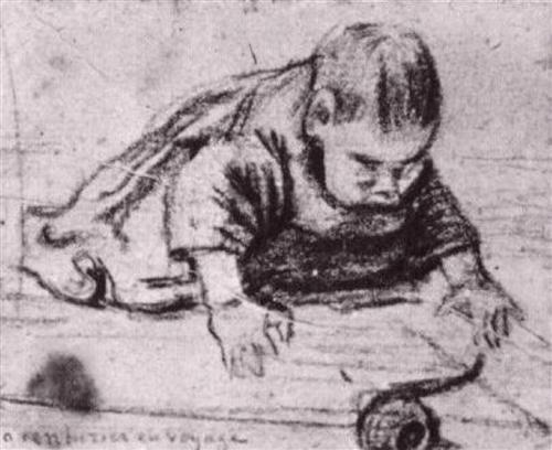 Baby Crawling - Vincent van Gogh
