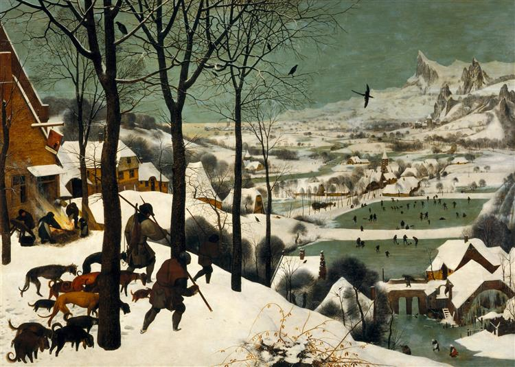"Pieter Bruegel the Elder, ""Hunters in the Snow"", 1565"