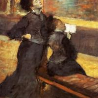 Tissot and Degas visit the Louvre, 1879