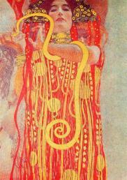 La medicina, detalle. Murales de la facultad. Gustav Klimt, 1907. Destruida en 1945.