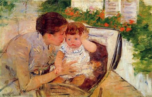 Susan Comforting the Baby (no.2) - Mary Cassatt