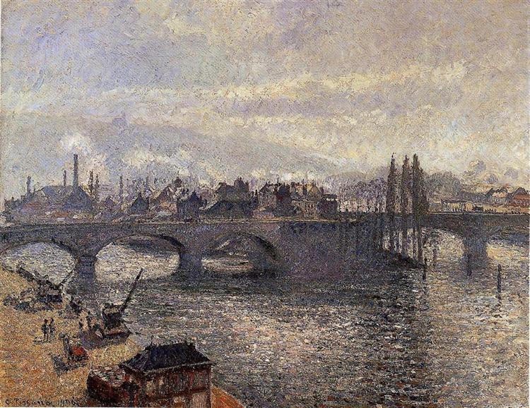 the pont corneille rouen morning