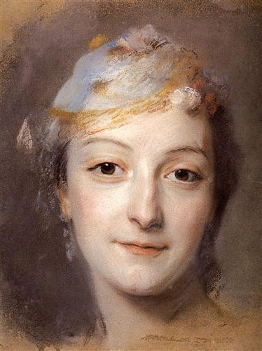 Portrait of Marie Fel  - Maurice Quentin de La Tour